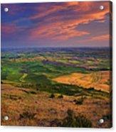 Palouse Skies Ablaze Acrylic Print
