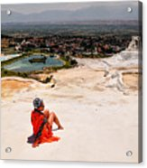 Pamukkale Cotton Castle Acrylic Print