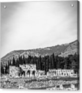 Paragliding Over The Ruins Of Pamukkale Acrylic Print