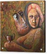 Pan And  Ariadne Acrylic Print
