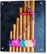 Pan Flute Acrylic Print