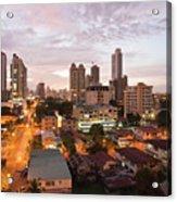 Panama City At Night Acrylic Print