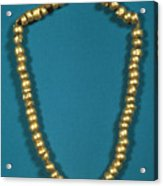 Panama: Gold Beads, C1000 Acrylic Print