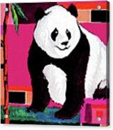 Panda Abstrack Color Vision  Acrylic Print