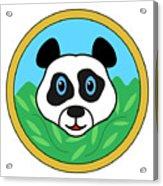 Panda Bear Head Acrylic Print