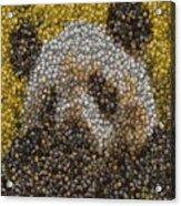 Panda Coin Mosaic Acrylic Print