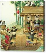 Pandabears Christmas 03 Acrylic Print by Kestutis Kasparavicius