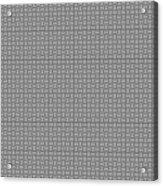 Pandora's Puzzle Greys Acrylic Print