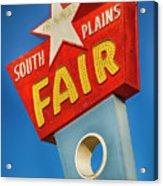 Panhandle South Plains Fair Sign Acrylic Print