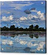 Pano Cambodia Lake  Acrylic Print