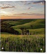 Pano - Flint Hills Sunset   Acrylic Print