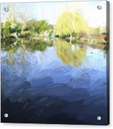 Panorama 2 Of Monets Garden In Giverny Acrylic Print