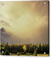 Panorama Clearing Storm Over The Grand Tetons Acrylic Print