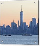 Panorama New York City Skyline At Sunrise Acrylic Print