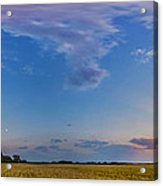 Panorama Of A Colorful Sunset Acrylic Print