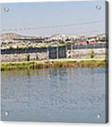 Panorama Of A Pond Acrylic Print