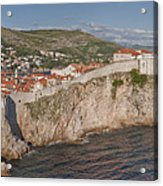 Panorama Of Dubrovnik, Croatia, In The Afternoon Acrylic Print