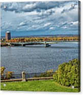 Panorama Of Gatineau, Quebec And Ottawa, Ontario Looking East On The Ottawa River Acrylic Print