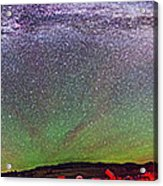 Panorama Of Milky Way Above The Table Acrylic Print