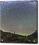 Panorama Of Milky Way Over Red Rock Acrylic Print