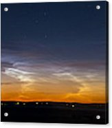 Panorama Of Noctilucent Clouds Acrylic Print
