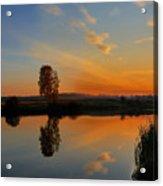 Panorama Of Sunset Acrylic Print