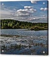 Panorama Of The Lake In Elkino Acrylic Print