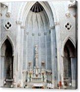 Panorama Of The Main Altar Of St. John The Evangalist Roman Catholic Church Schenectady Acrylic Print
