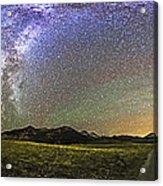 Panorama Of The Milky Way And Night Sky Acrylic Print