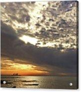 Panorama Of The Sunset In Caesarea Acrylic Print