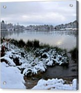 Panorama Of Winter Lake Acrylic Print