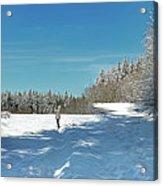 Panorama Of Winter Park Acrylic Print