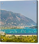Panorama On Greek Island Acrylic Print