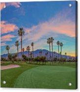 Panorama Palm Springs Golfing Acrylic Print