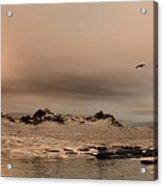 Panorama Winter Ocean Scene Acrylic Print