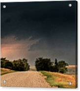 Panoramic Lightning Storm In The Prairie Acrylic Print