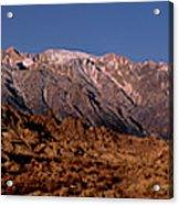 Panoramic Moon Set Alabama Hills Eastern Sierras California Acrylic Print