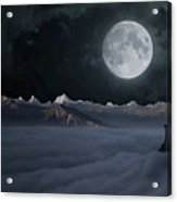 Panoramic Moonscape Acrylic Print