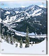 Panoramic Mountain Top View Of Popular Washington Resort Acrylic Print