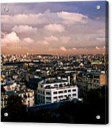 Panoramic Paris Sky.  Acrylic Print