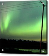 Panoramic Prairie Northern Lights Acrylic Print