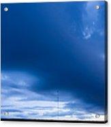Panoramic Prairie Storm Canada Acrylic Print