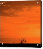 Panoramic Prairie Sunset Acrylic Print