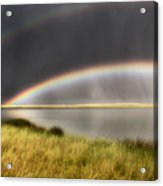 Panoramic Storm In The Marshes Acrylic Print