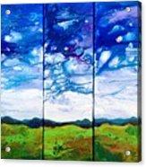 Panoramic Stormy Skies Acrylic Print
