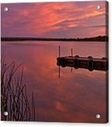 Panoramic Sunset Northern Lake Acrylic Print