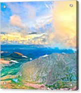 Panoramic Sunset On Mount Evans Acrylic Print