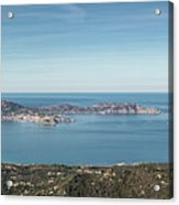 Panoramic View Across Calvi Bay And Revellata In Corsica Acrylic Print
