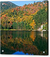 Panoramic View Of Crawford Notch State Acrylic Print
