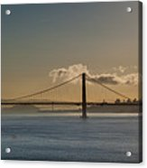 Panoramic View Of Downtown San Francisco Behind The Golden Gate  Acrylic Print